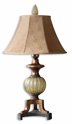 Gavet Bronze Table Lamp Crafted with Copper Detailing Brand Uttermost