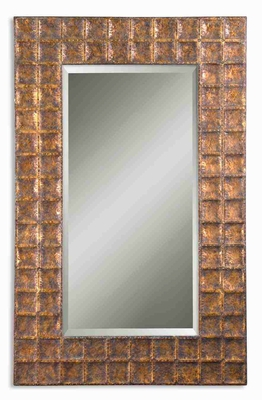 Gavino Mirror with Hand Forged Metal In Antique Gold Glaze Brand Uttermost