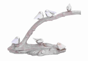 Adorable Polystone Showpiece Birds on Branch - 44229 by Benzara