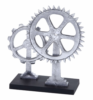 Gear Decor The Sign Of Modern Age Decor With Two Metal Gears Brand Woodland