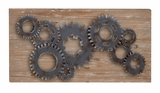 Gears Wall Decor Delivers The Feel Of Having 3-Dimesinal Wall Decor Brand Woodland