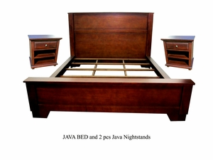 Geneva Bed And Nightstand Set, Aesthetically Carved Breathtaking Home Deco by D-Art