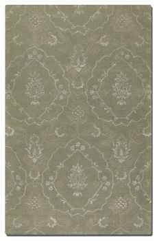 "Geneva Laurel Green 16"" Rug with Silver Details and Taupe Accents Brand Uttermost"