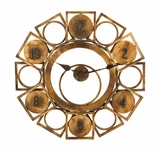 Geometric Wall Clock Art With Artistic Circles And Squares Brand Woodland