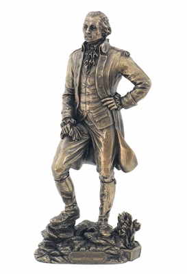 George Washington's Statue with Cold Casted Bronze Construction Brand Unicorn Studio