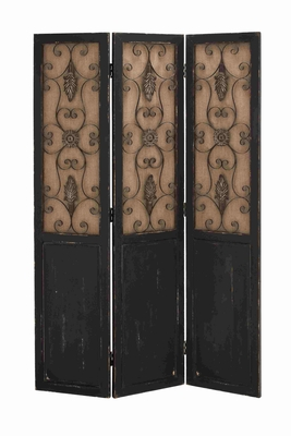 German Art Magnificent Three-Panel Screen Brand Benzara
