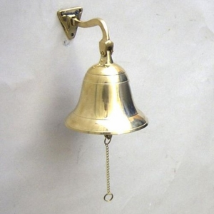 German Ship Bell Perfectly Functional Maritime Home Decor Brand IOTC