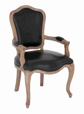 Getafe Vintage Styled Cozy Artistic Chair With Armrest Brand Benzara
