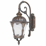 Gianni Collection Elegantly Styled 2 Lights Exterior Light Wall Mount in Brown by Yosemite Home Decor