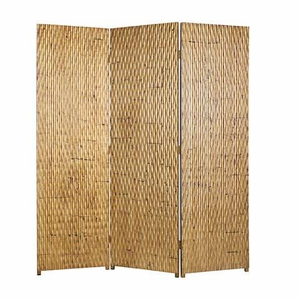 Gilded 3 Panel Screen Crafted with Unique Gold Metallic Finish Brand Screen Gem