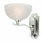 GlacierPoint Collection Attractive 1 Light Vanity Lighting in Satin Nickel Finish by Yosemite Home Decor