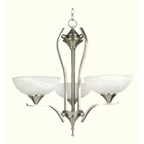 GlacierPoint Collection Attractive Piece of 3 Lights Chandelier in Satin Nickel Finish by Yosemite Home Decor