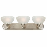 GlacierPoint Collection Classy Styled 3 Light Vanity Lighting in Satin Nickel Finish by Yosemite Home Decor