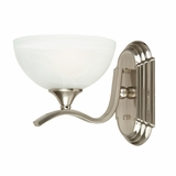 GlacierPoint Collection Fascinating Modish Styled 1 Light Vanity Lighting in Satin Nickel Finish by Yosemite Home Decor