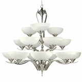 GlacierPoint Collection Sparkling Piece of 18 Lights Chandelier in Satin Nickel Finish by Yosemite Home Decor