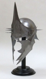 Gladiatorial Metal King Helmet with Spikes in Silver by IOTC