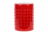 Glamorous Yuri's Craved Ceramic Stool Red