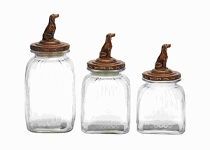 Glass Canister with Elegant Finish and Modern Decor (Set of 3) Brand Woodland