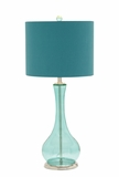 Glass Chrome Table Lamp by Woodland Import