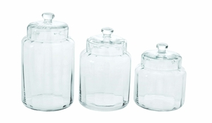 Glass Container Jar Set Perfect For The Kitchen Brand Woodland