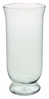 Glass Hurricane with Contemporary Design and Round Curves Brand Woodland