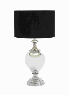 Glass Metal Table Lamp with Simple and Sophisticated Design - 40145 by Benzara