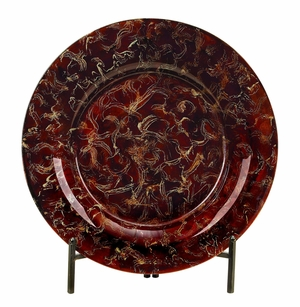 Glass Plate Metal Stand with Exquisite Design Brand Woodland