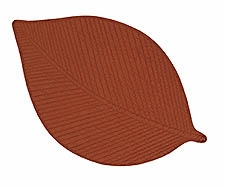 Glazed Ginger Leaf Placemat, 13 Inch X 19 Inch, Dining Table Placemat Brand C&F