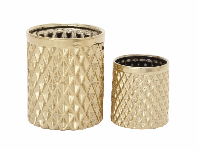 buy gleaming ceramic kitchen utensil holder set of 2 6 9 h