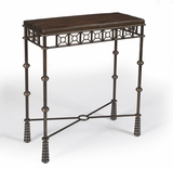 "Glendale Mahogany & Iron Console Table 28""W by Butler Specialty"