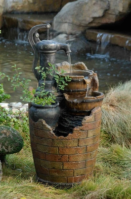 Zest Glenville Water Pump Cascading Water Fountain with 5 metre Cord