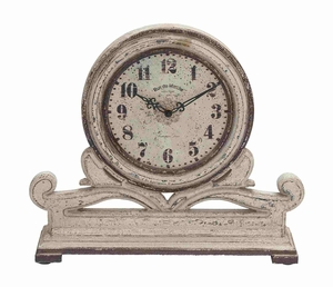 Gliwice Table Clock Appealingly Antiqued Precious Artwork Brand Benzara