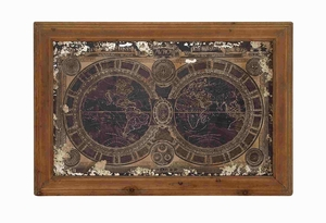 Global Bordered Wall Map Panel Decor Brand Benzara