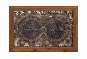 Global Bordered Wall Map Panel D�cor Brand Benzara