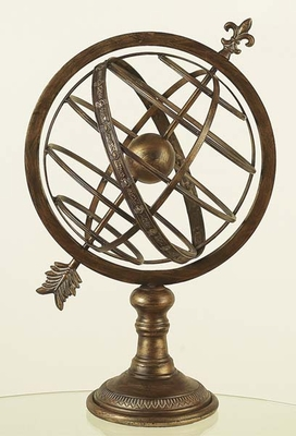 Globe Solar Earth Model in Copper Brass Armillary Sphere Brand Woodland