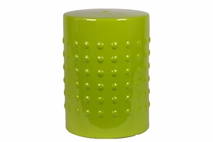 Glorious and Enchanting Green Colored Ceramic Stool by Urban Trends Collection