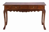 Glossy Mahogany Wooden Console with Media Storage Shelves Brand Woodland
