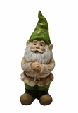 Gnome Folding Hands Looking Up Garden Statue by Alpine Corp