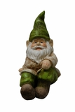 "Gnome Lying Down Statue 12""L by Alpine Corp"