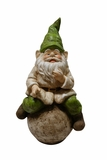Gnome on Ball Statue by Alpine Corp