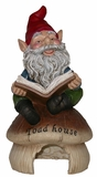 Gnome Reading Book on Toadhouse by Alpine Corp