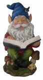 Gnome Reading Book Statuary by Alpine Corp