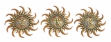 God's Metal Polystone Sun Plaque 3 Assorted by Woodland Import