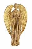 Gold Color Angle Metal Holiday Decor Statue Holiday Decor