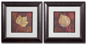 Golden Fall Framed Art with Bronze Undertone - Set of 2 Brand Uttermost