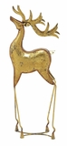 """Golden Metal Deer w/ Weathered Effects 28""""H, 8""""W by Woodland Import"""