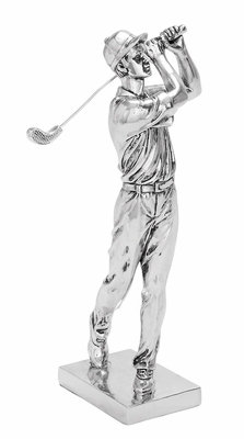 Golfer  Statue Polystone Sculpture of a Golf Player Brand Woodland
