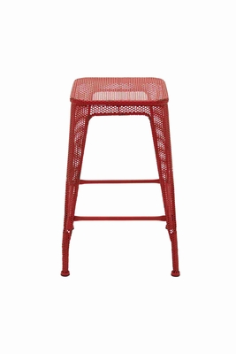 Gorgeous and Exclusive Red Metal Stool Brand Benzara