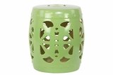 Gorgeous green Ceramic Pierced Design Stool