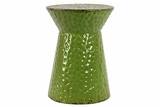 Gorgeous Green Spotted Shinning Metal Stool
